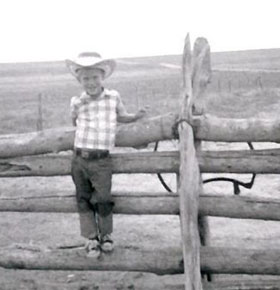 A young cowboy in Colorado