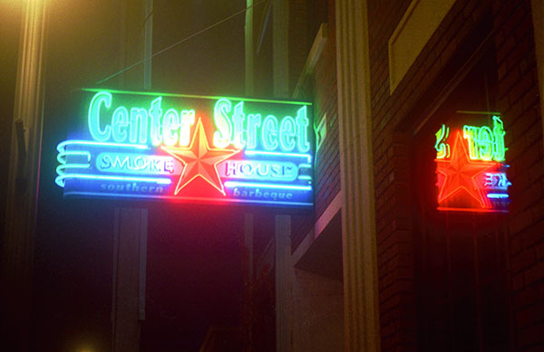 Center Street Smokehouse sign