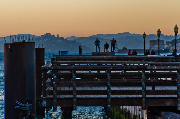 Standing on the Pier, San Francisco Bay