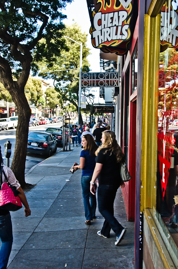 Looking down Haight