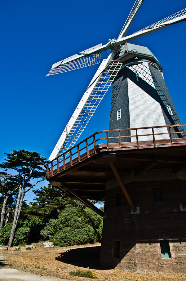 The Murphy Windmill, built in 1905 and recently restored by the city. Saturday was the first day the windmill was allowed to spin.  Eventually, it will start pumping water again.