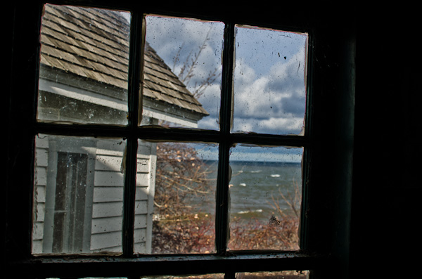 Lake Ontario through a window